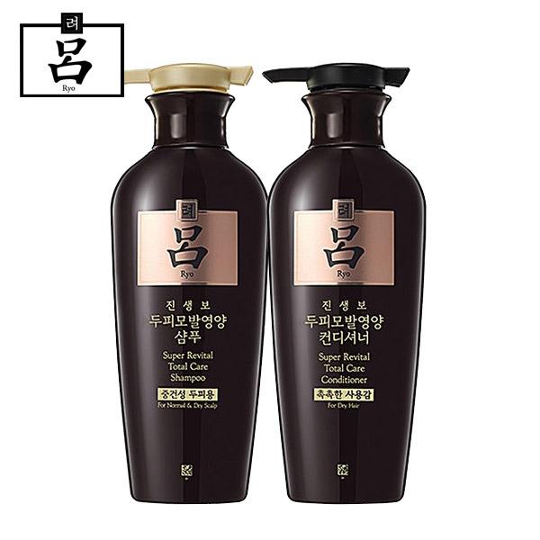 [무료배송]려 진생보 두피모발영양 중건성두피용(샴푸+컨디셔너)400ml, 1세트