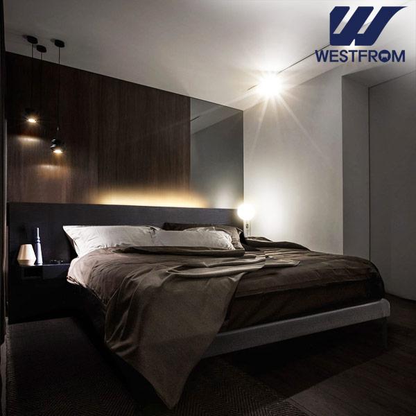 [웨스트프롬] New LED 투매트 침대 협탁 2ea무료 (Q K) (매트선택) 2colors, 블랙