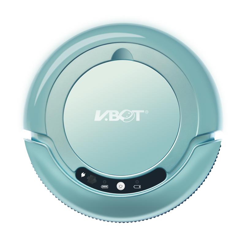 물걸레 겸용 추락 방지 진공 청소기 인공 지능 로봇, 크리스탈 블루