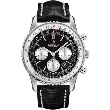 Breitling Navitimer 1 B01 Chronograph 43 Black Dial Mens Watch AB0121211B1P1 PROD80004297