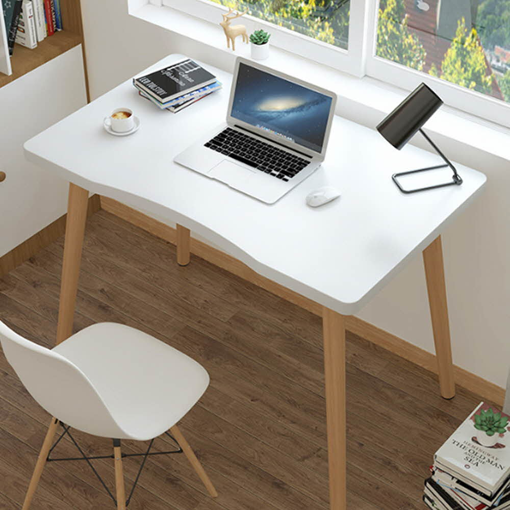 제이와이 심플책상 테이블 소파 1인용책상, 화이트(80cm)
