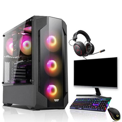 포유컴퓨터 MD추천 조립PC 게이밍 올인원 풀세트 조립컴퓨터 본체 데스크탑, 01_i3-9100F+GTX1050Ti, 기본형