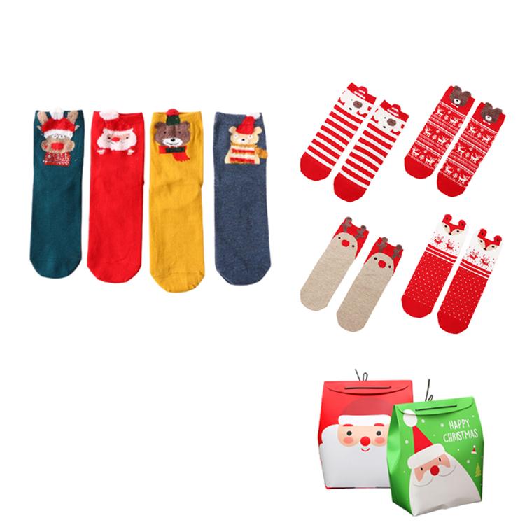 [4개입 세트]크리스마스 양말 선물 세트