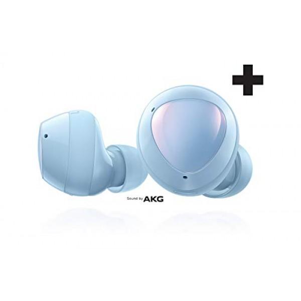 Samsung Galaxy Buds + Plus True Wireless Earbuds (무선 충전 케이스 포함) Cloud Blue – 미