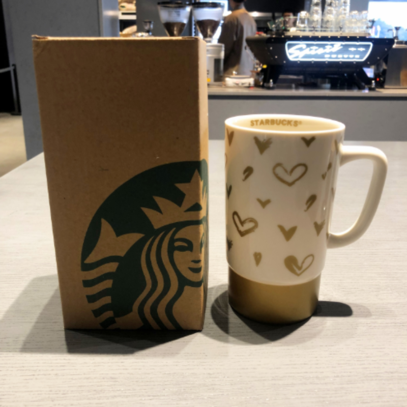스타벅스 클래식 러브 흑백 커플 커피 페어 컵, 화이트