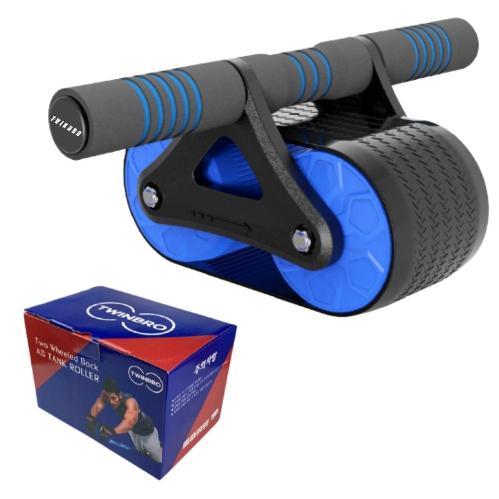 트윈브로 ab 슬라이드 휠 뱃살빼는 운동기구 듀얼 바퀴 복근 운동기, 블루