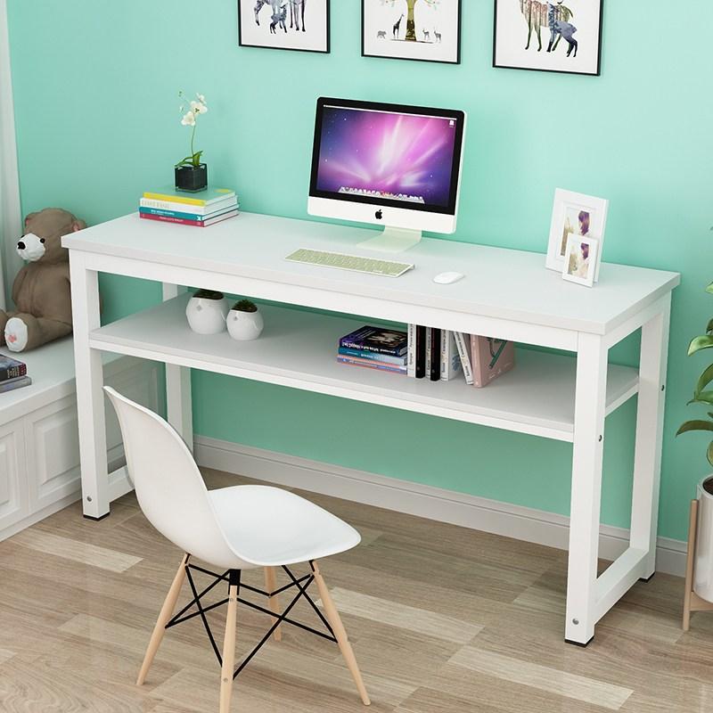 콘솔 긴테이블 심플 컴퓨터책상 가정용 벽에기대는 작은책상 사무실테이블 침실 직사각형 테이블학생 책상, T11-(단층)직사각형 140cm넓이 60cm높이 75cm