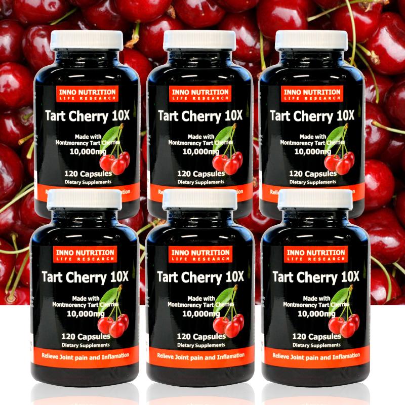 Inno Nutrition 타트체리 120캡슐 Tart Cherry 10배 고농축 몽모랑시 2개월분, 6개