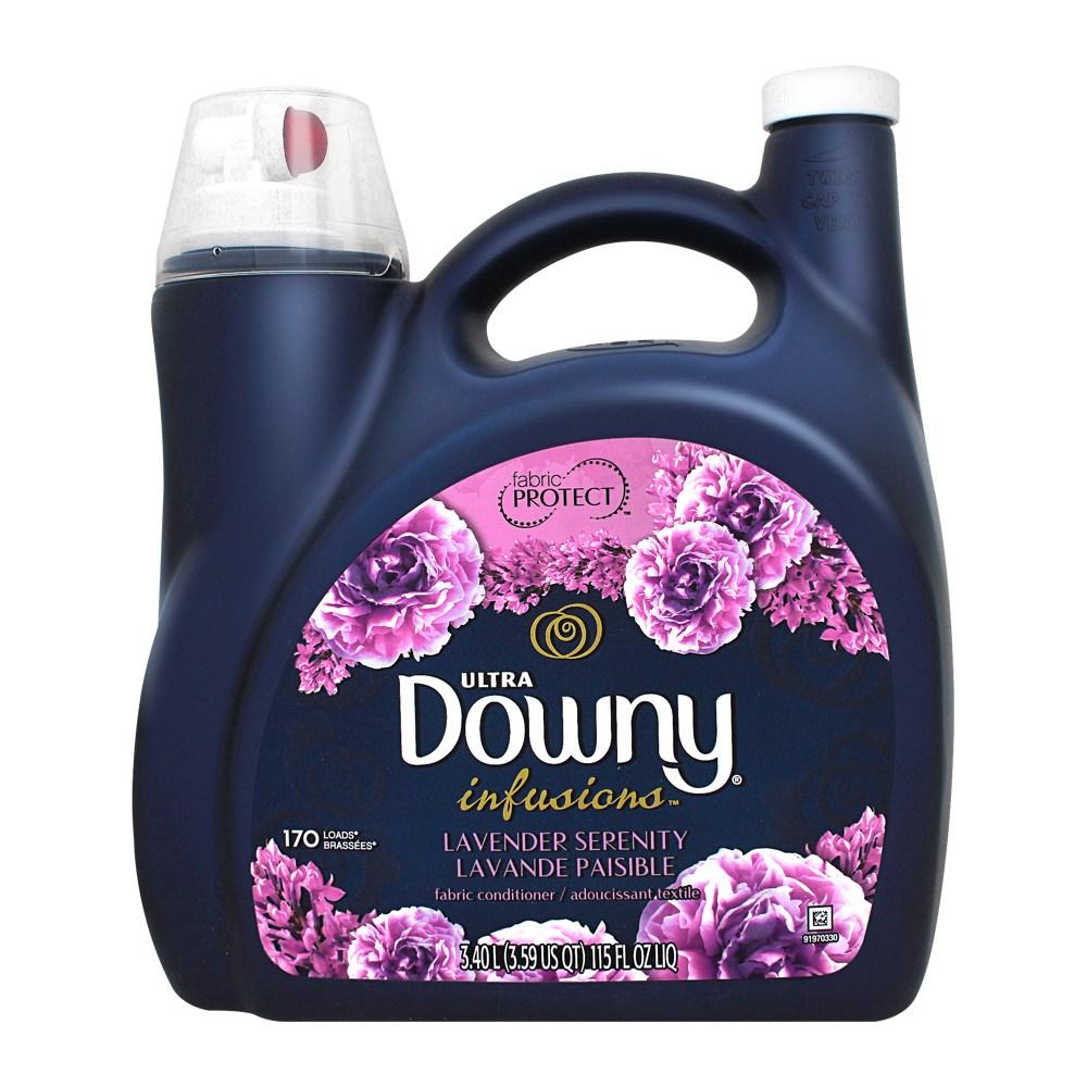 울트라 다우니 인퓨젼 섬유유연제 라벤더향, 1개, 3.4L