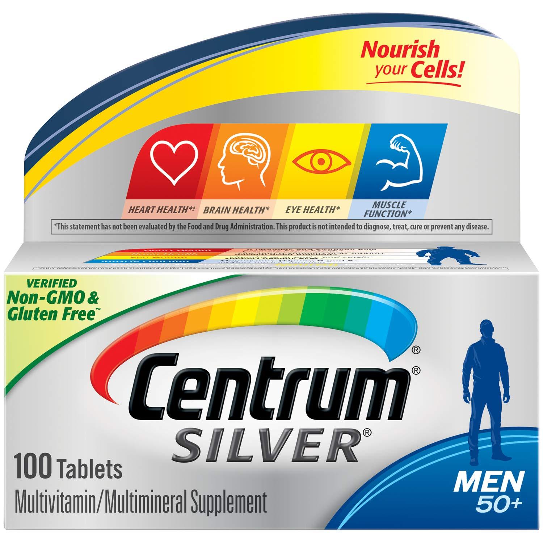 센트룸 미국 의사추천 1위 50대 이상 남성용 종합비타민 100정, 1box
