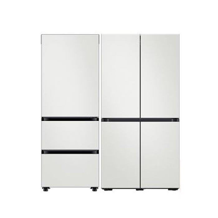삼성 비스포크 키친핏 냉장고&김치냉장고 RF60A91C3AP+RQ33T7412AP(전체코타화이트), RF60A91C3K32W (POP 5547071513)