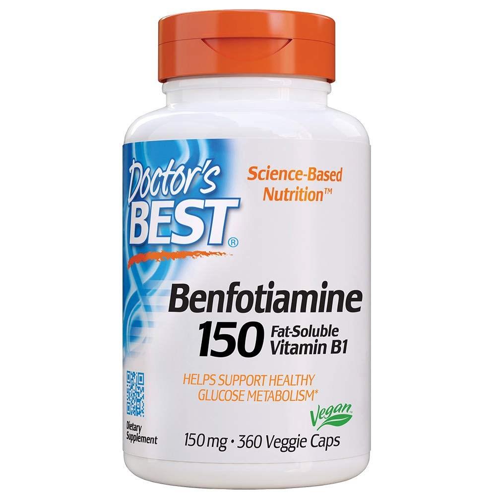 Doctors Best Benfotiamine 150 mg 360 Veggie Caps 임산부엘레비트 얼라이브원스데일리포맨 닥터베스트멀티비타민 솔가프리네이탈 30대남자영양제 솔가, 1개, 1