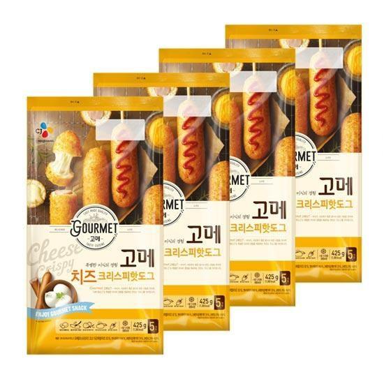 [시중동일]고메 치즈핫도그 425g x 4봉 총20개, 없음, 상세설명 참조