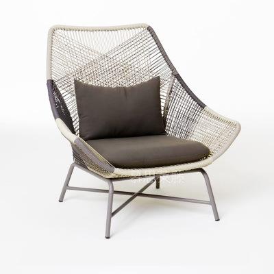 야외의자 덩굴 의자 싱글 등받이 가정용 누울수있는의자 실외 화원 라탄 의자포함 페달 베란다 도매, T01-홑의자 배틀