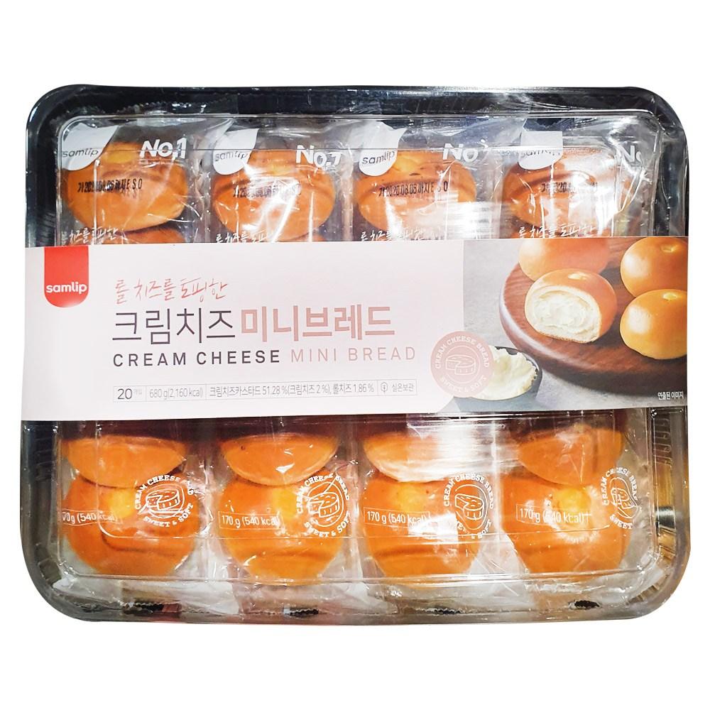 코스트코 삼립 미니 크림 치즈빵 34g x 20개입