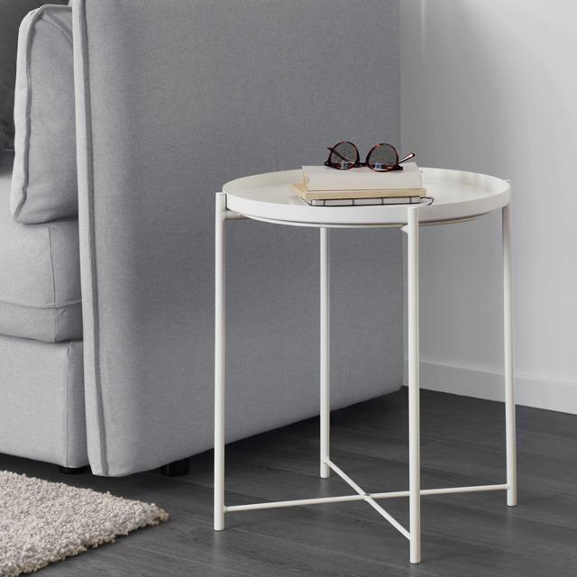 IKEA 이케아 GLADOM 글라돔 트레이 테이블, 화이트 503.378.20