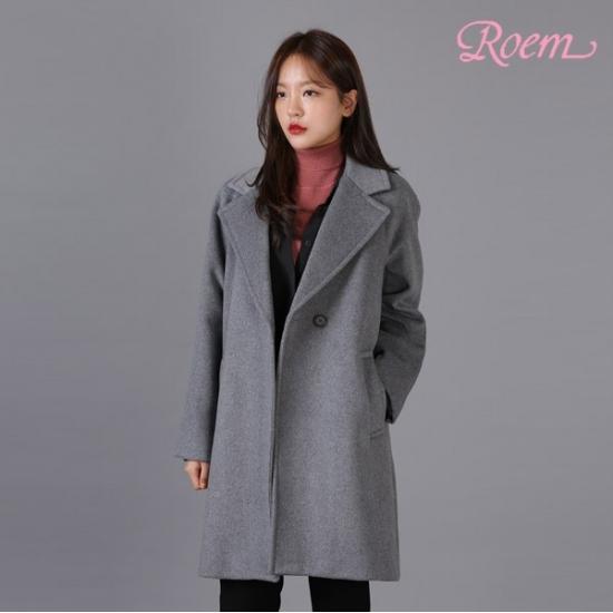 로엠 로엠 WY 루즈핏 테일러드 코트 - RMJH84TG11_15_R7S7