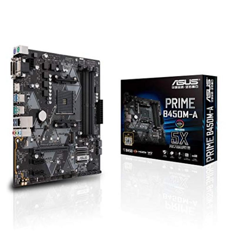 ASUS AMD B450탑재 AM4대응 메인 보드 PRIME B450M-A[MicroATX][ 제3세대 AMD Ryzen CPU에 대응]