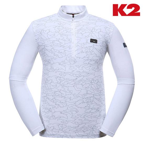 남성 피싱웨어 그래픽 냉감 긴팔 집업 티셔츠 KMM19211_W2