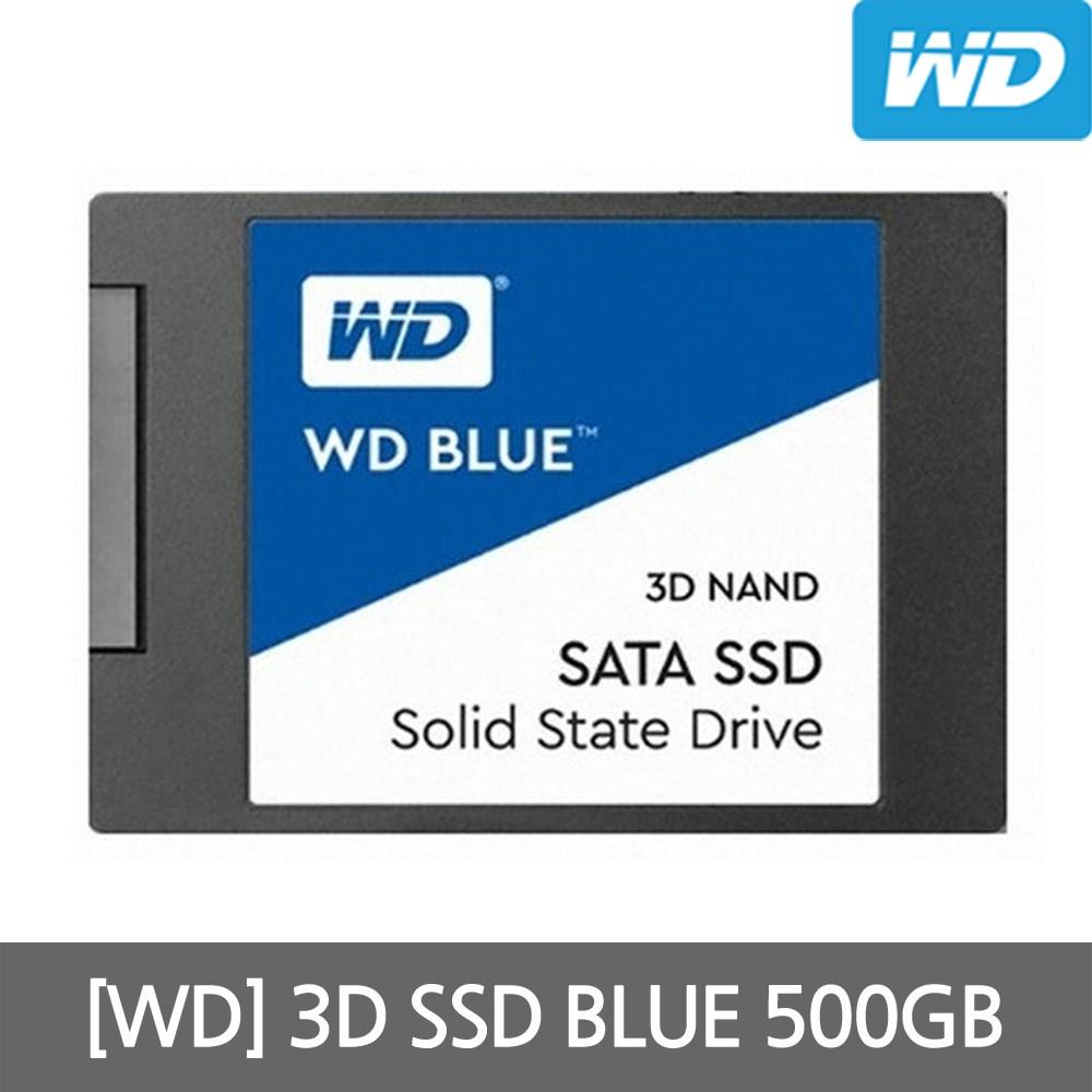 WD Blue 3D SSD 500GB 2.5인치 노트북용 컴퓨터용, 단일상품, 단일상품