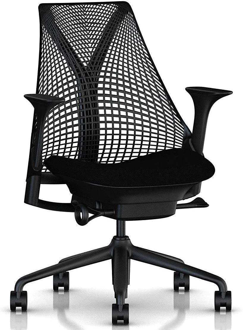 3.예상수령일 2-6일 이내 HermanMiller (허먼 밀러) [정품] 허먼 밀러 의자 팔 : 조절 암 시트 깊이, 블랙베이스  블랙 프레임