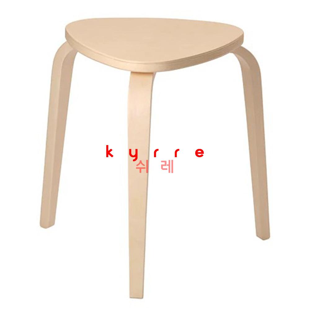 이케아 쉬레 원형 스툴 화장대 간의 의자, 원목
