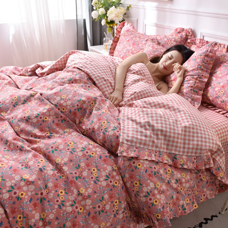 침구세트 상큼 침구사종세트 100순면 순면, C01-1.2m침대(침대커버 상품 3세트)적합 150x200이불
