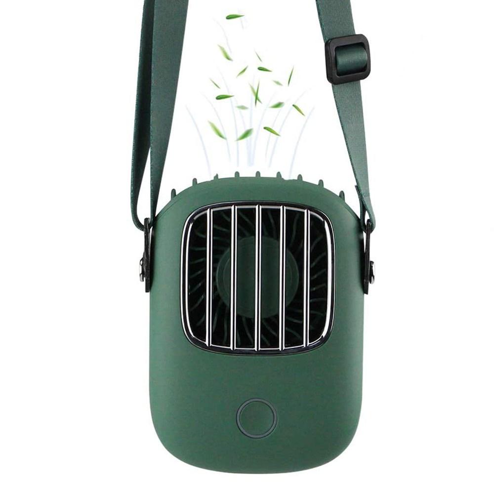 KAIDA 목걸이 선풍기 미니 휴대용 넥밴드선풍기 현디형 3in1 기능 저소음, 그린, 모델