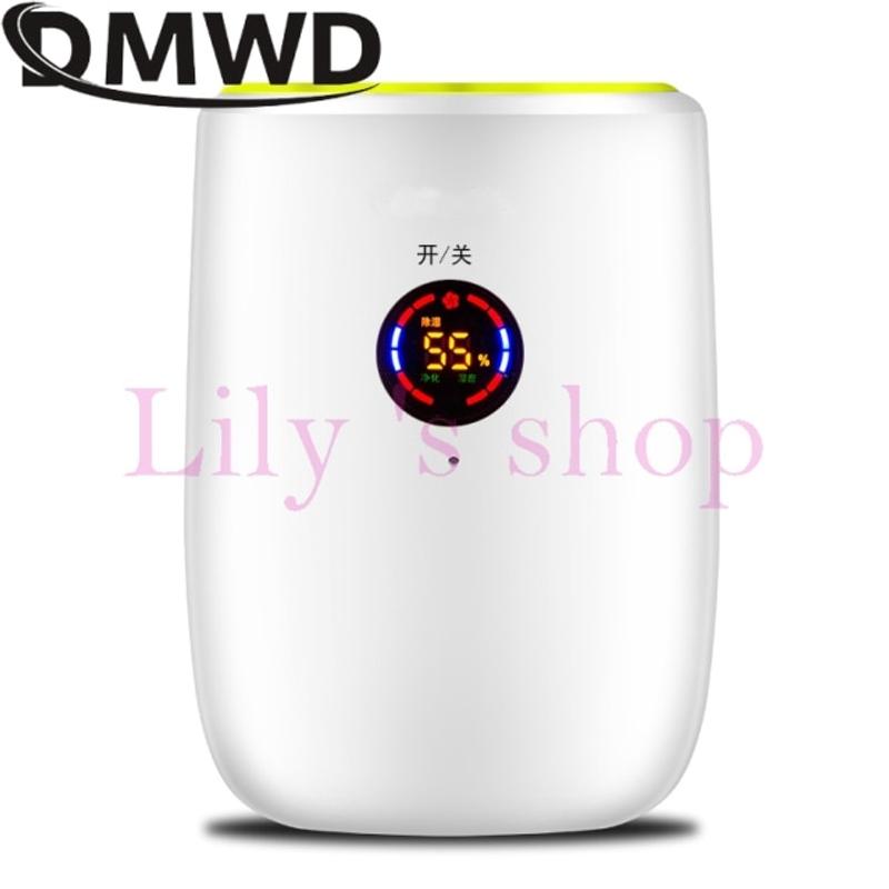 100-240V 휴대용 전기 제습기 미니 수분 흡수 공기 건조기 LED 디스플레이 자동 꺼짐 흡수기 제상 공기 청정기 EU, 협력사, 녹색과 흰색 (POP 5621353119)