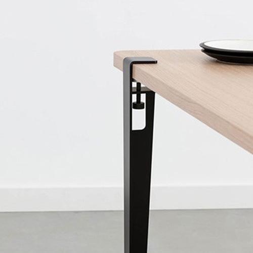 토토의선물 상다리 흑색 테이블다리 검정색 다리부속 클립형다리 710mm 상다리부속