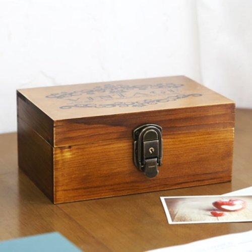 [텐바이텐] 빈티지 레터링 자물쇠 우드 박스 Ver.2, 월넛