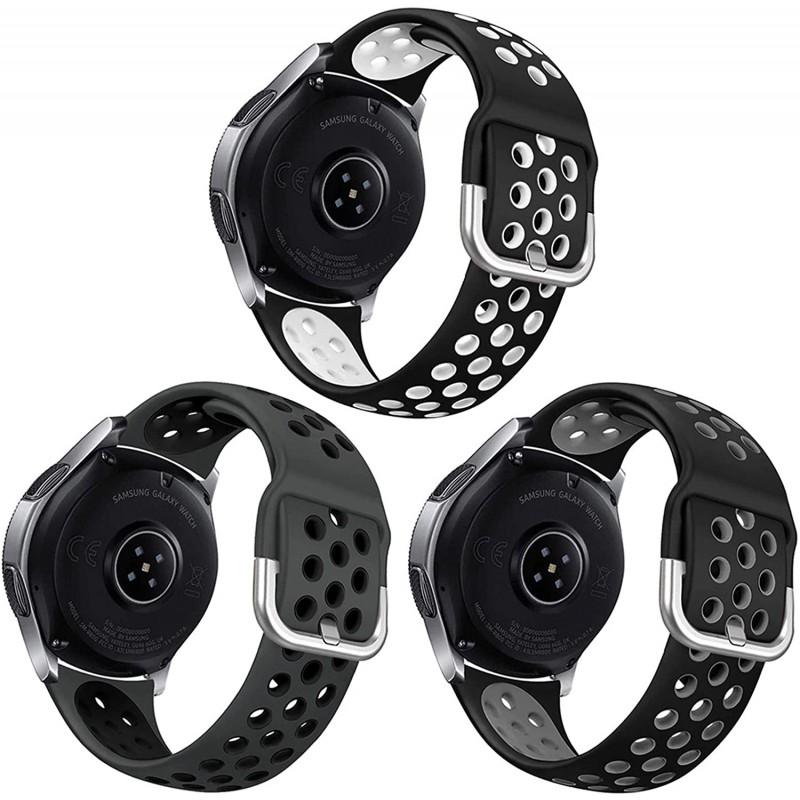 남성 여성용 삼성 갤럭시 워치 46mm / 기어 S3 프론티어와 호환되는 3 팩 스포츠 밴드 갤럭시 워치 3 LTE (45mm) 용 NAHAI 22, 단일옵션, 단일옵션