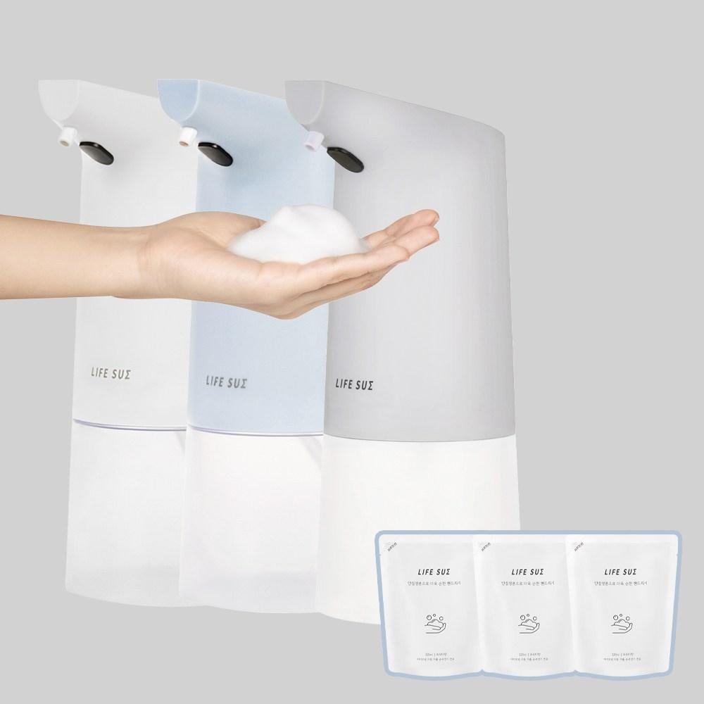 라이프썸 자동 거품 손세정기 (LFS-HA11)+핸드워시 3EA 3종 택1, 화이트 + 핸드워시 3EA