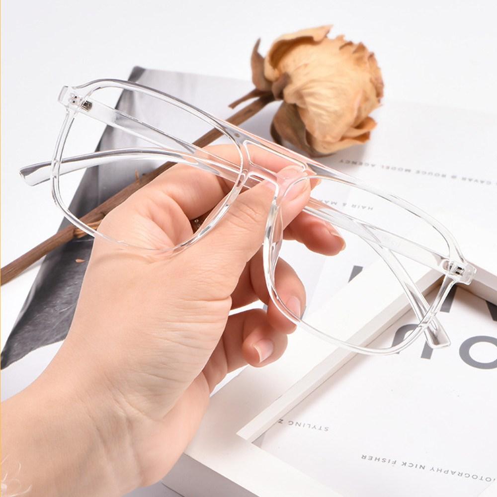 에스컴바인 오버사이즈 사각보잉 투명 안경테 AM-0018
