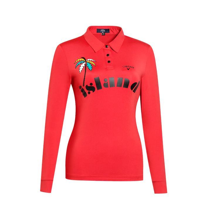 골프스커트 19골프 패션 여성 시즌패션 운동 단층 얇은타입 골프 긴팔 T티셔츠여성 상의 자외선차단, C02-레드