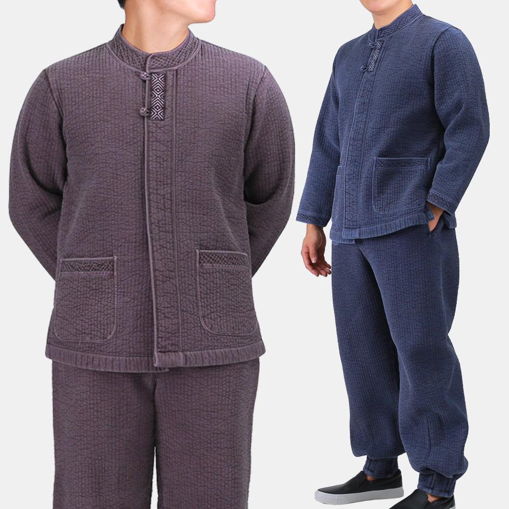 매듭우리옷 MM218_남자 겨울 담누빔 바지저고리세트 생활한복 개량한복 생활한복(개량한복)