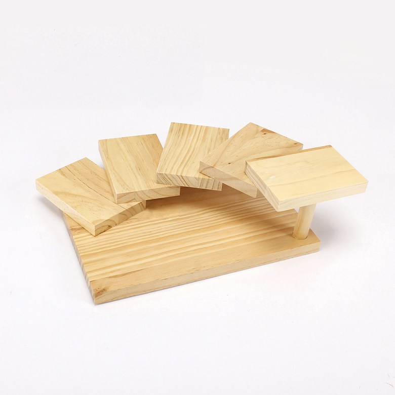 홈포차 오마카세 회포장 포장초밥 월남쌈 카나페 우드 계단식 접시 트레이, 직사각형 5단 스시 테이블