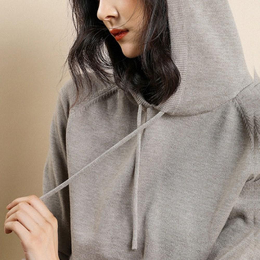 별천지 여성 후드티 니트티 가을 겨울 후드 티셔츠 맨투맨 긴소매
