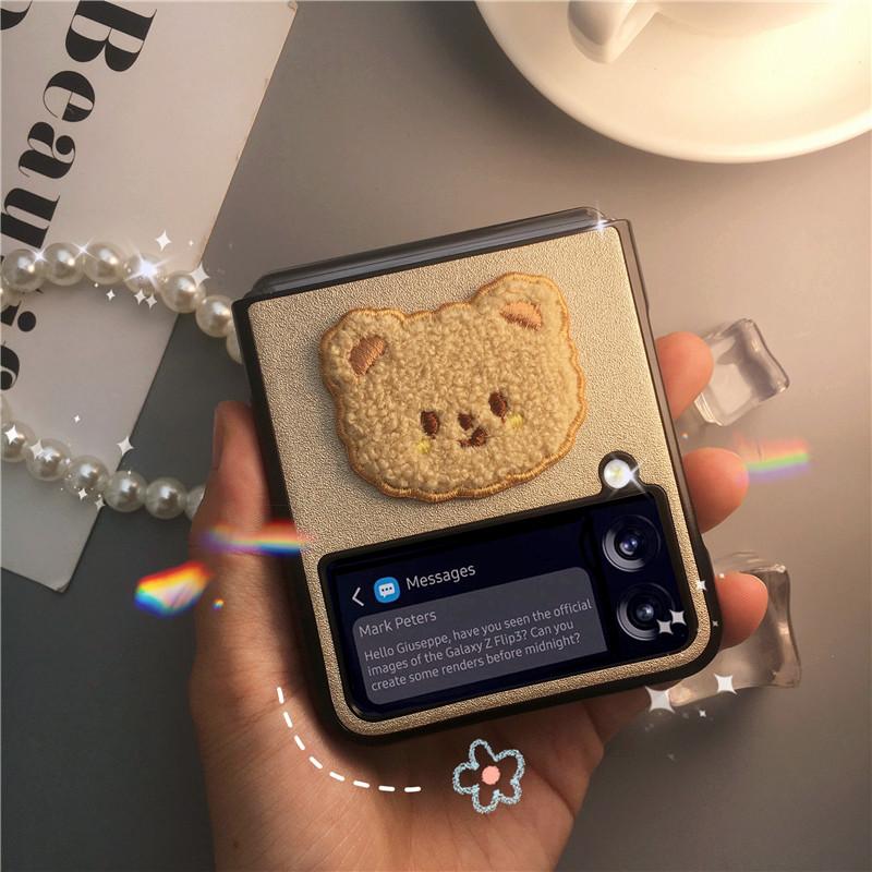 갤럭시 Z 플립 3 케이스 접이식 3세대 필름 폴더블 귀여운 여성용 Z flip 3 case-3-6058889603