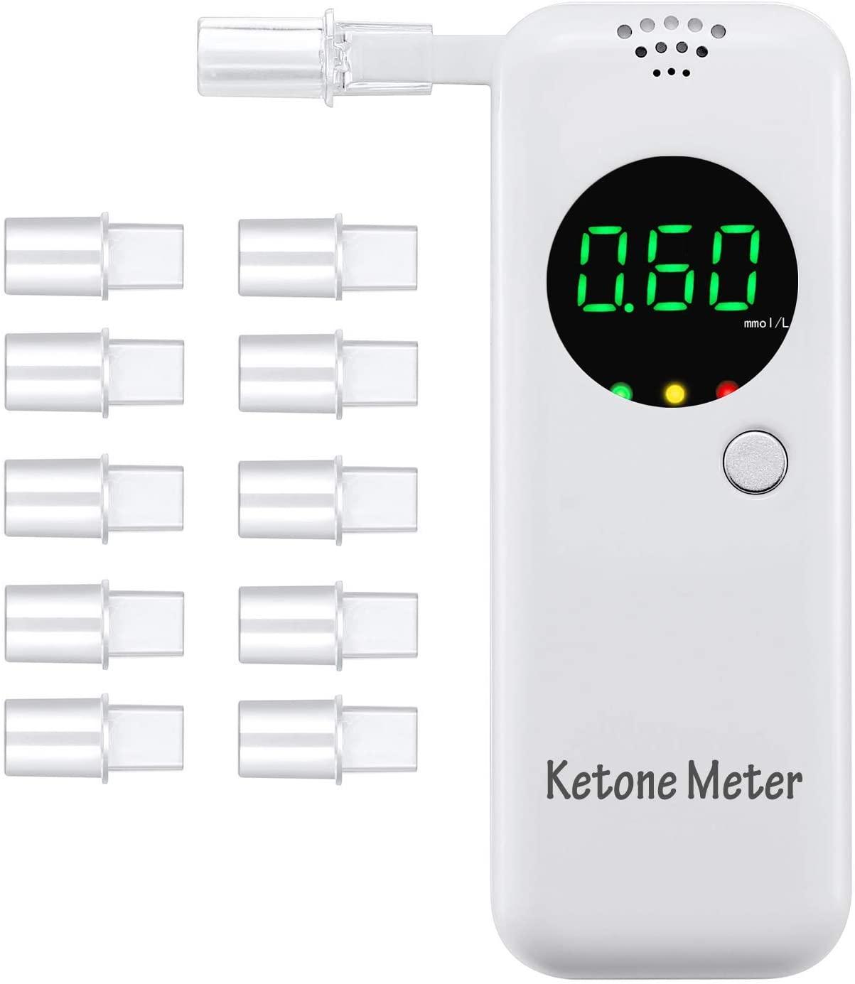 10.예상수령일 2-6일 이내 GDbow 레스 체카 Ketosis 감지기 측정기 호기 숨결 호흡 식 케톤 테스터 케톤 테, 상세 설명 참조0