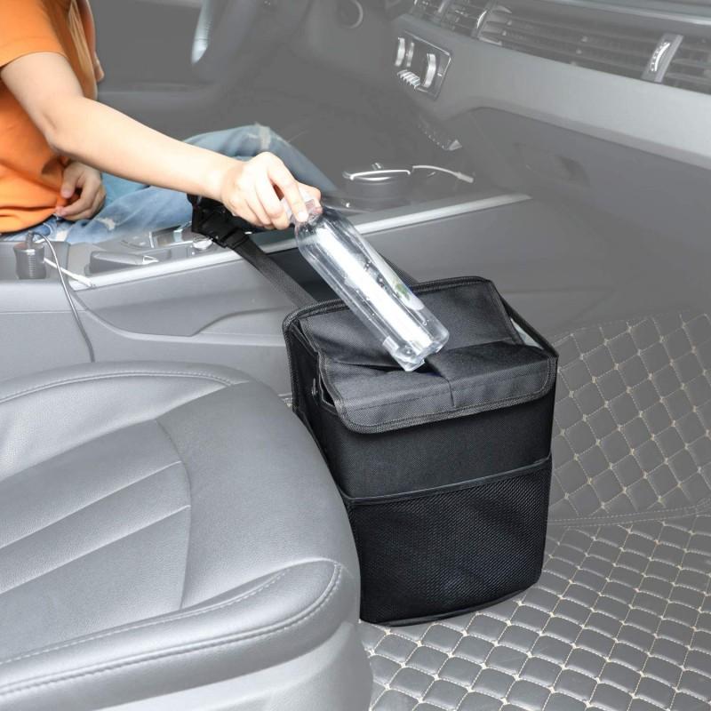 [독일 직배송] 뚜껑을 덮은 파워타이거 카 M'llimer 자동차 폐기물 가드 방수 방수 폐비닐 봉투 10L 정전용량, 단일옵션