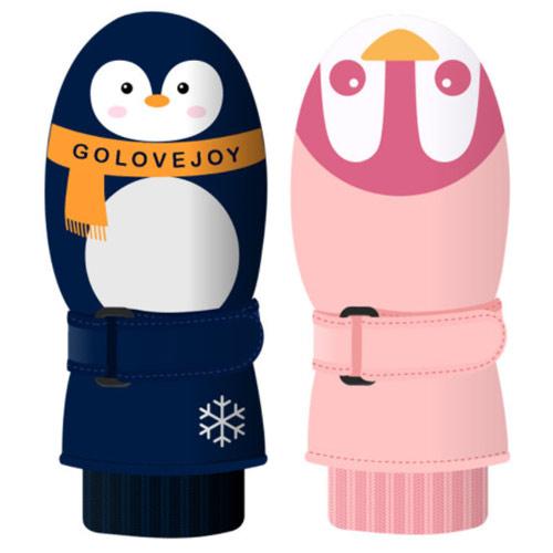 어린이 펭귄 동물 방수 방한 눈썰매 어린이집 겨울 장갑