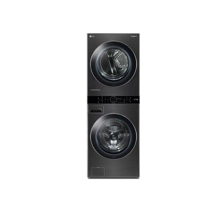 [신세계TV쇼핑][LG] 워시타워 블랙 (W16KT) 건조기 16KG + 드럼세탁기 21KG, 단일상품
