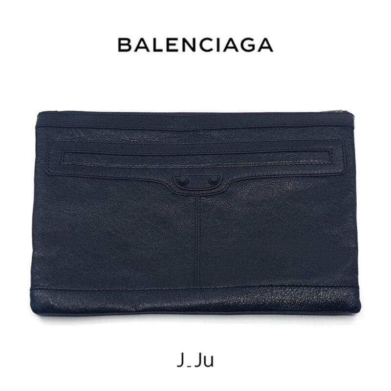 [Balenciaga]발렌시아가 램스킨 클러치 블랙 519613 CU50X