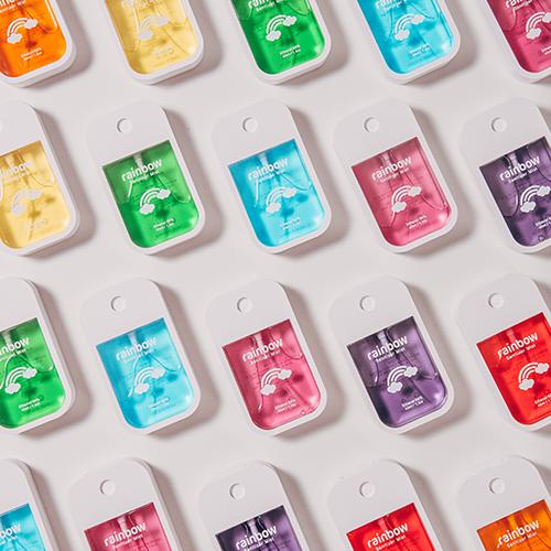 손소독제 휴대용 레인보우 세니타이저 미스트1+1 의약외품 스프레이형, 블루, 옐로우