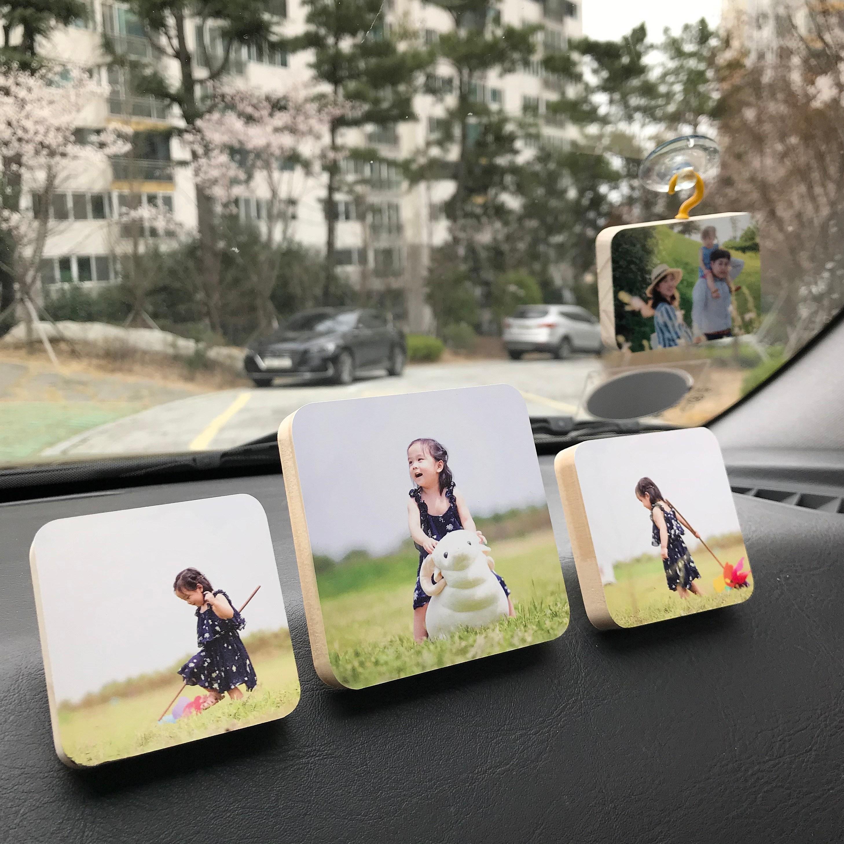 소담포토 차량용 방향제 액자 연말 3+1 크리스마스 선물 포토방향제 대시보드형 가족 커플 아이 반려동물