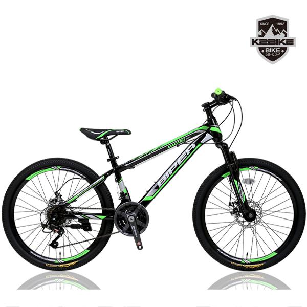 K2BIKE 2021 MTB자전거 메커드SFD 24인치 21단 디스크 MTB 자전거, 메커드SFD 24인치 블랙+그린 미조립