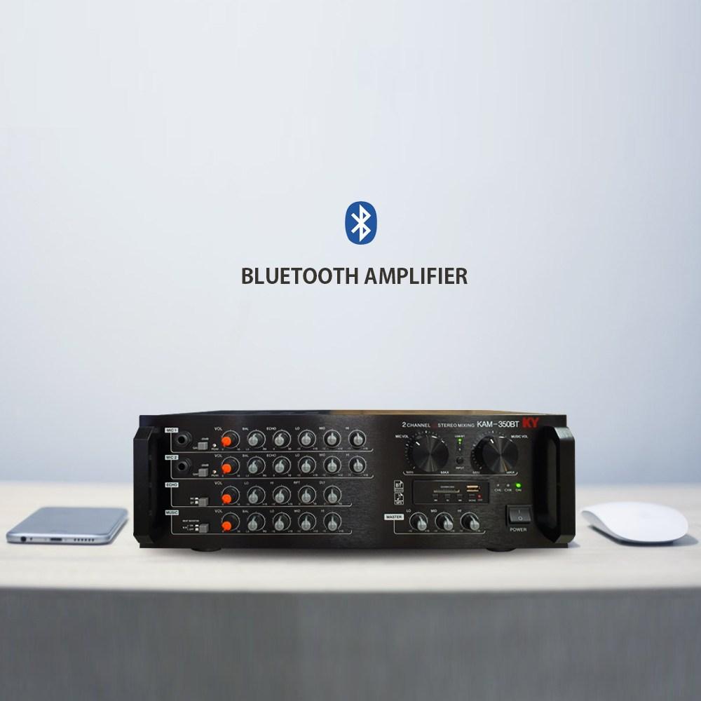금영 노래방용 2채널 파워 믹서 앰프 300W, KAM-350BT