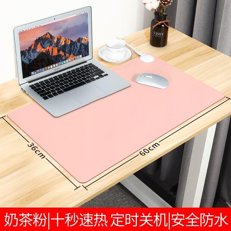 온열 발열 키보드 책상 컴퓨터 사무실 데스크패드 마우스패드난방 마우스 패드 난방 핸드, 밀크티 분말-중 60  36cm 3C 인증 -2