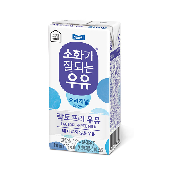 매일 소화가 잘되는 우유, 190ml, 12개
